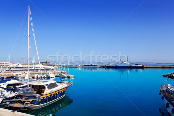 Formentera island port with boats in La Savina Stock photo © lunamarina