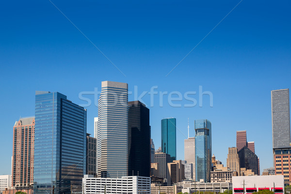 Houston downtown skyscrappers skyline on blue sky Stock photo © lunamarina