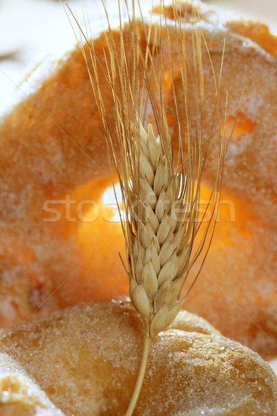 Stockfoto: Heerlijk · rollen · bakkerij · suiker · tarwe · oor