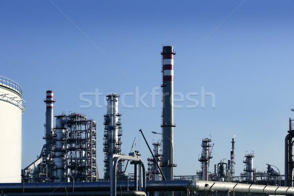 Chemicznych oleju roślin wyposażenie benzyny destylarnia Zdjęcia stock © lunamarina
