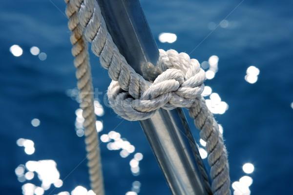 Marines noeud détail acier inoxydable bateau Photo stock © lunamarina