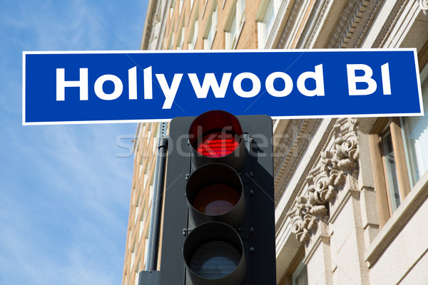 Hollywood signe illustration Californie réel affaires Photo stock © lunamarina
