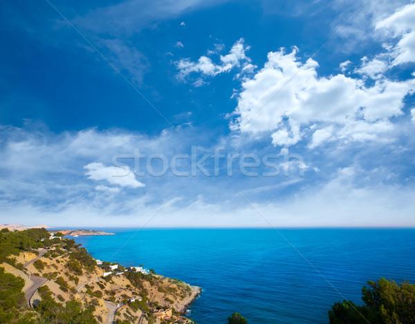Ibiza Es Cubells Mediterranean view in san Jose Stock photo © lunamarina