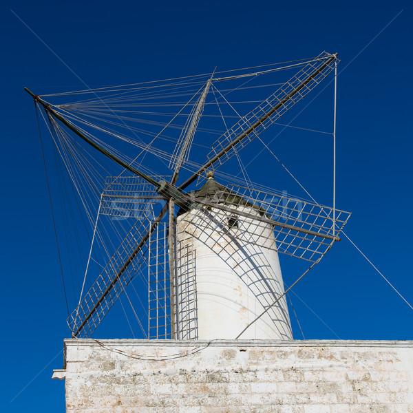 Ciutadella Es Moli windmill in Ciudadela Menorca Stock photo © lunamarina