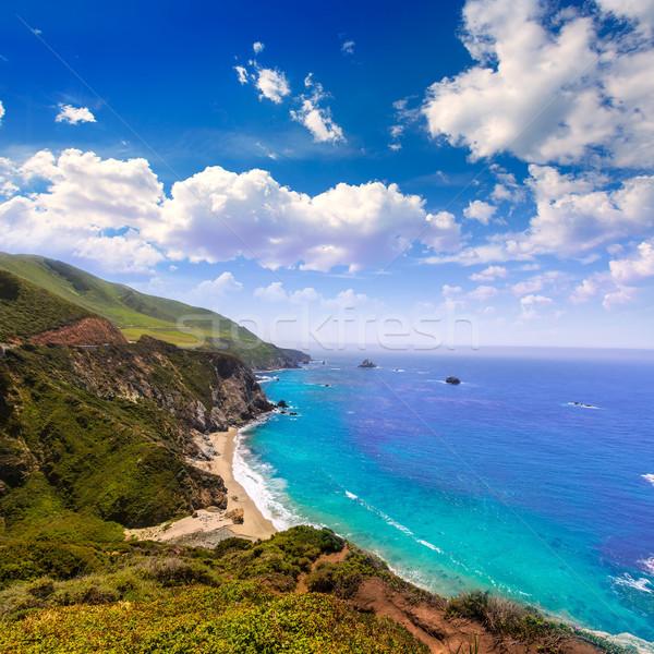 California playa grande ruta puente primavera Foto stock © lunamarina
