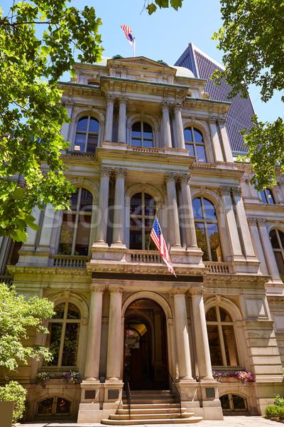Boston vieux ville salle bâtiment Massachusetts Photo stock © lunamarina