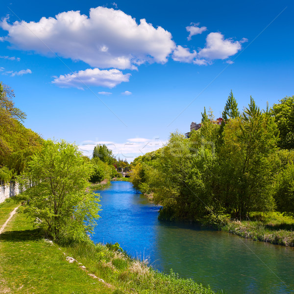 Burgos Arlanzon river in Castilla Leon Spain Stock photo © lunamarina