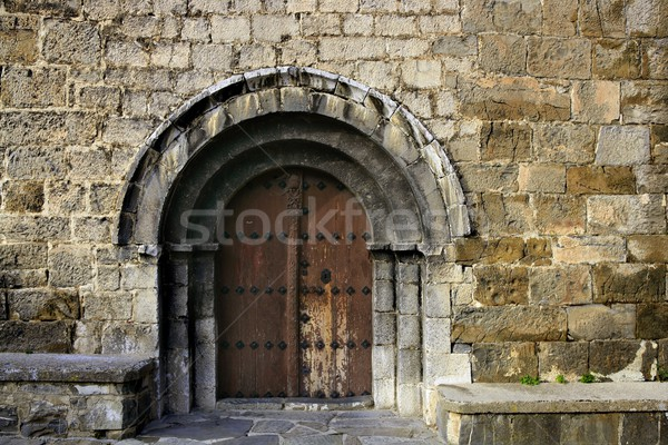 Ancient stone arch romanic architecture Stock photo © lunamarina