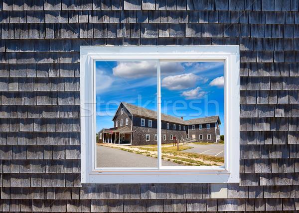 Кейп-Код окна Массачусетс США дома весны Сток-фото © lunamarina