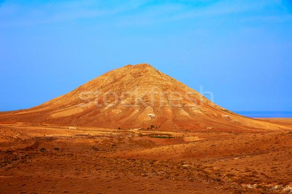 Berg Spanje woestijn reizen eiland Stockfoto © lunamarina