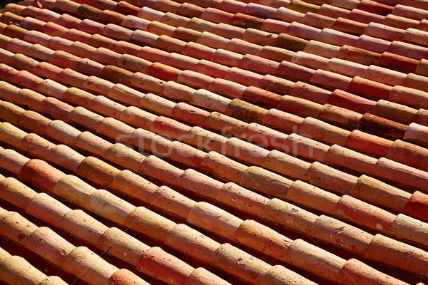 Arabic roof tiles in Teruel of Spain Stock photo © lunamarina