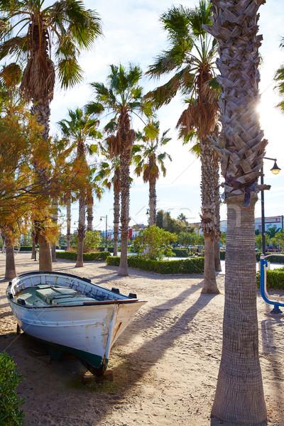 Valencia LA tengerpart hajók mediterrán Spanyolország Stock fotó © lunamarina