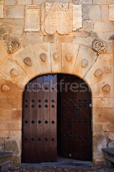 Spanje la deur steen godsdienst Stockfoto © lunamarina