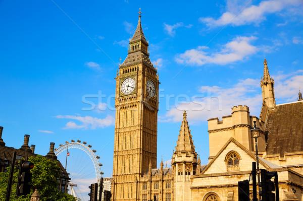 большой Бен часы башни Лондон Англии город Сток-фото © lunamarina