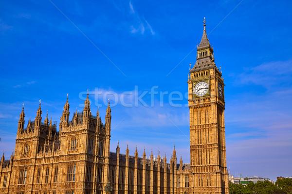 Big Ben reloj torre Londres Inglaterra ciudad Foto stock © lunamarina