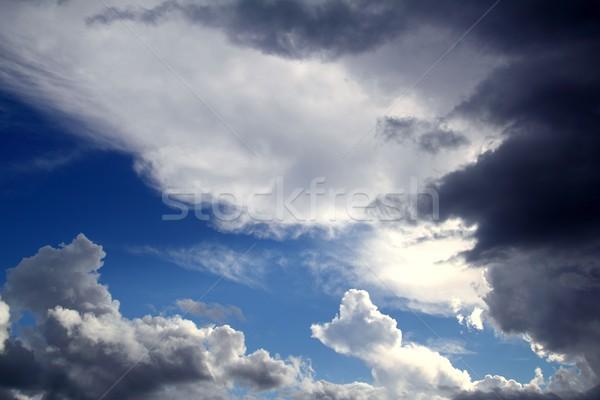 Dramatic cloudscape sky gray stormy clouds Stock photo © lunamarina