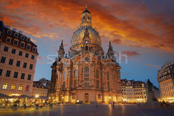 Дрезден Церкви Германия закат лет путешествия Сток-фото © lunamarina