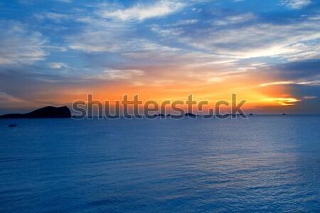 Ibiza cala Conta Conmte sunset Stock photo © lunamarina