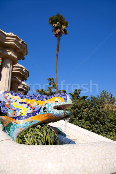 Dragon salamandra of gaudi  in park guell Stock photo © lunamarina