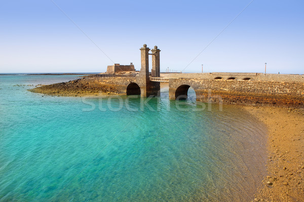 Arrecife Lanzarote castle and bridge Stock photo © lunamarina