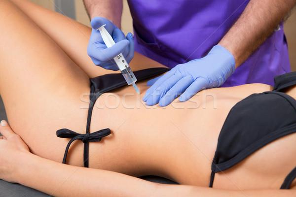 брюшной терапии врач женщину красивая женщина тело Сток-фото © lunamarina