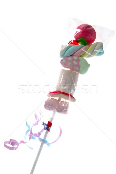 Colorful lolipop with varied  candy stacked  Stock photo © lunamarina