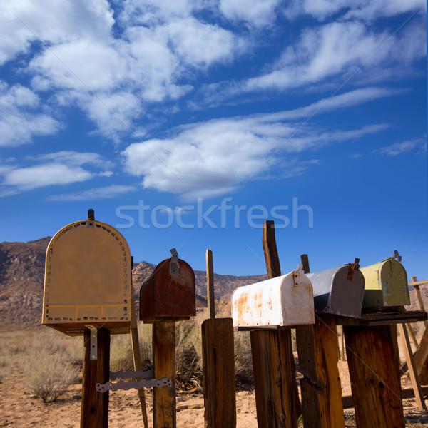 Vintage ouest Californie désert boîte aux lettres Photo stock © lunamarina