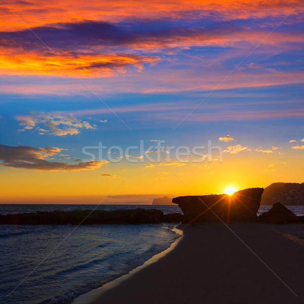 Wygaśnięcia plaży Hiszpania morze Śródziemne morza pomarańczowy Zdjęcia stock © lunamarina