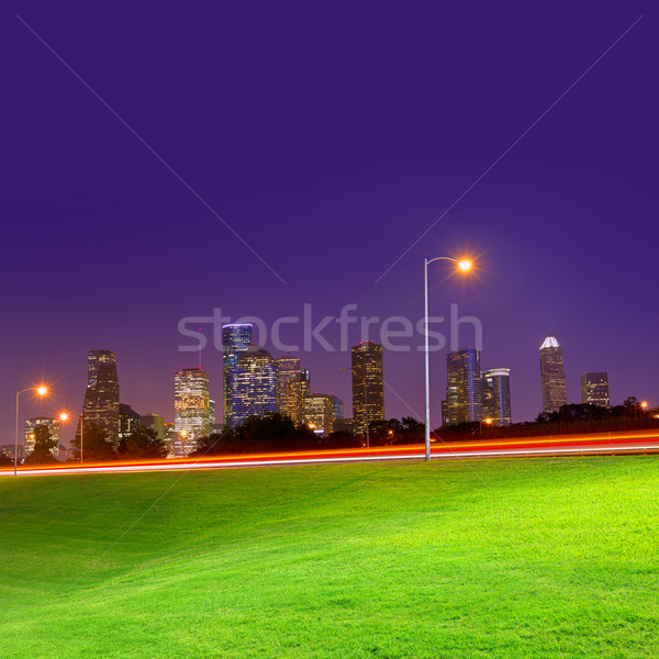 Houston puesta de sol horizonte Texas parque cielo Foto stock © lunamarina