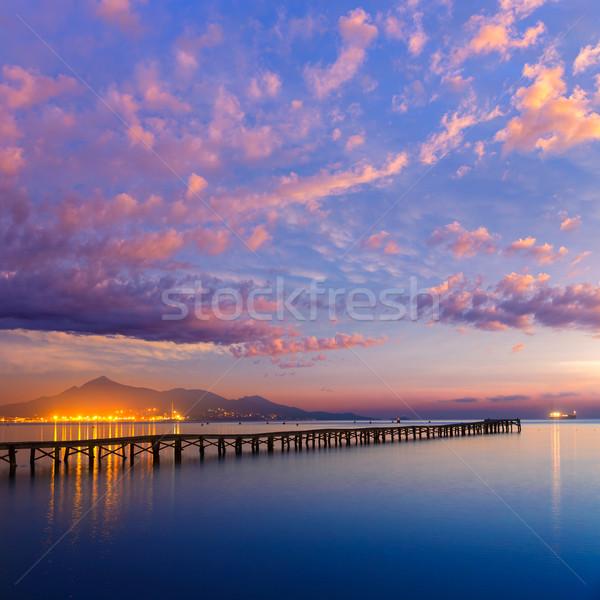 Strand zonsopgang majorca eilanden Spanje landschap Stockfoto © lunamarina