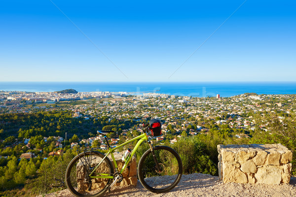 Mountain bike MTB Denia at Montgo track Spain Stock photo © lunamarina