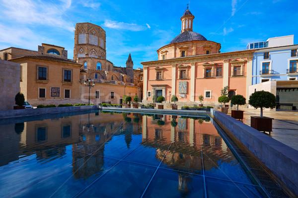 Walencja bazylika katedry kościoła Hiszpania budynku Zdjęcia stock © lunamarina