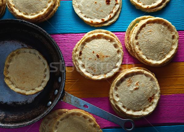 Sopes handmade mexican traditional food Stock photo © lunamarina