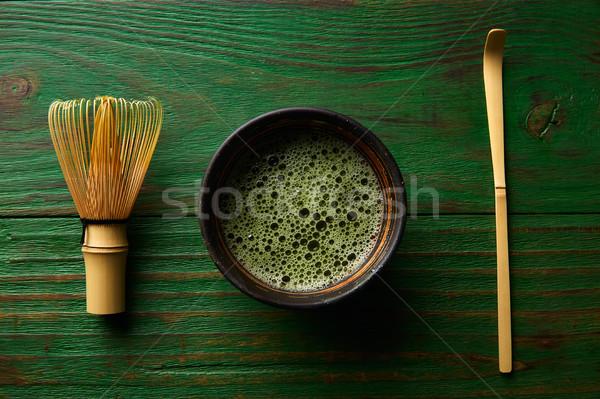 Té bambú batidor cuchara japonés ceremonia Foto stock © lunamarina
