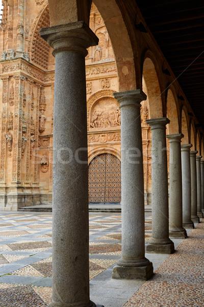 Stock photo: San Esteban Convent in Salamanca of Spain