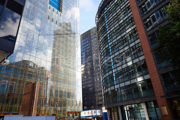 Лондон Финансовый район улице квадратный Англии небе Сток-фото © lunamarina