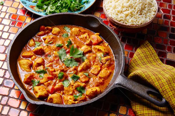 Pollo al curry indian ricetta basmati riso cucina Foto d'archivio © lunamarina