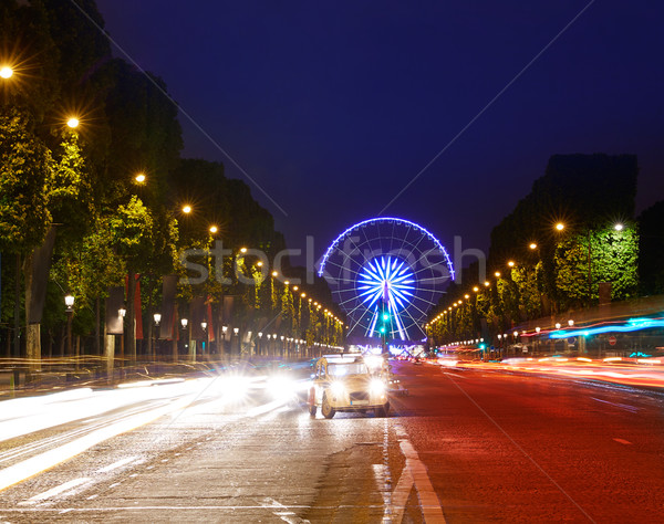 Champs Elysees in Paris and Concorde sunset  Stock photo © lunamarina