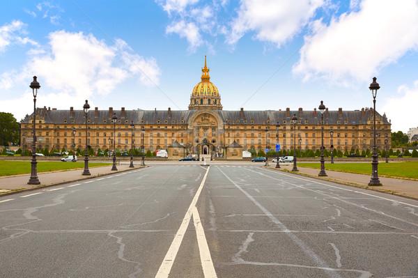 фасад Париж Франция небе город синий Сток-фото © lunamarina