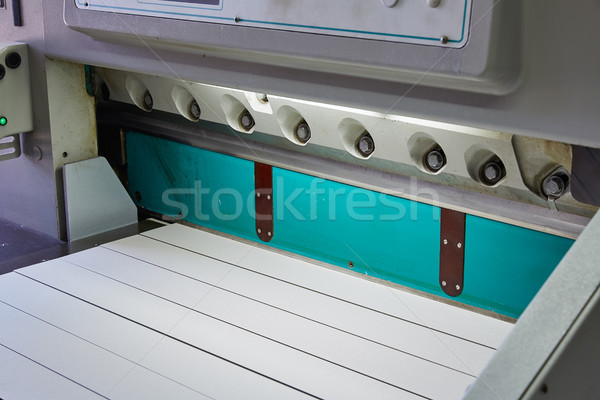 Cutting paper guillotine Shears machine for printing Stock photo © lunamarina