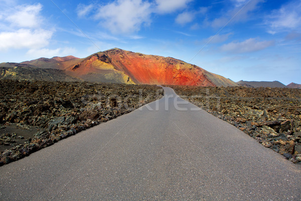 Lanzarote Timanfaya Fire Mountains road Stock photo © lunamarina