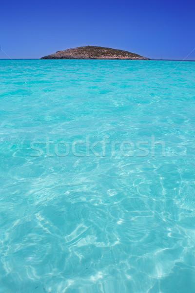beach Illetas Illetes in Formentera near Ibiza Stock photo © lunamarina