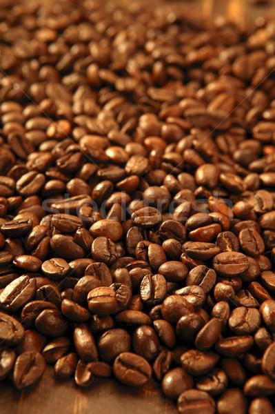 поджаренный кофе бобов текстуры свет Сток-фото © lunamarina