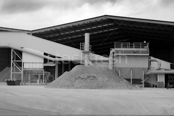 Aggregates and gravel stones  construction factory Stock photo © lunamarina