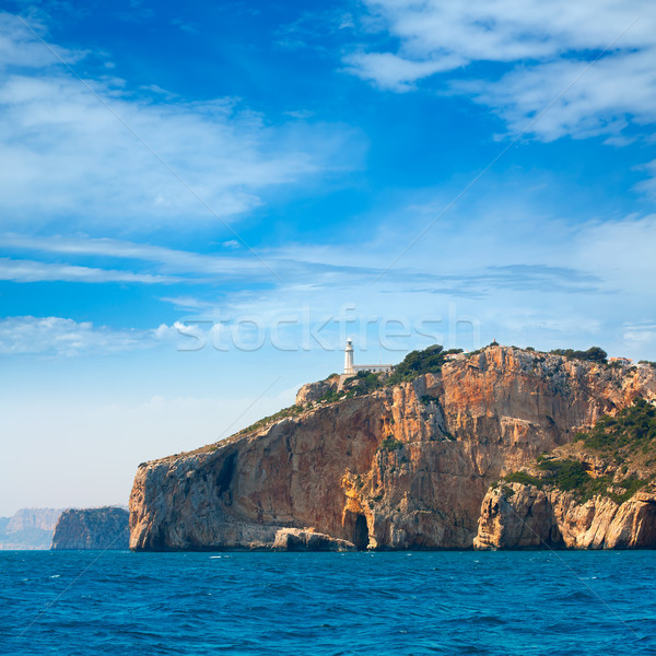 Cabo de la Nao Cape lighthouse in mediterranean sea Alicante Stock photo © lunamarina