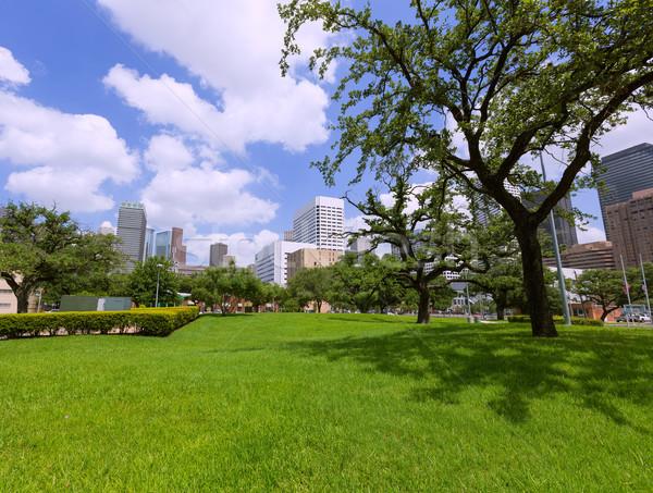 ストックフォト: ヒューストン · スカイライン · 景観 · テキサス州 · 風景 · 旅行