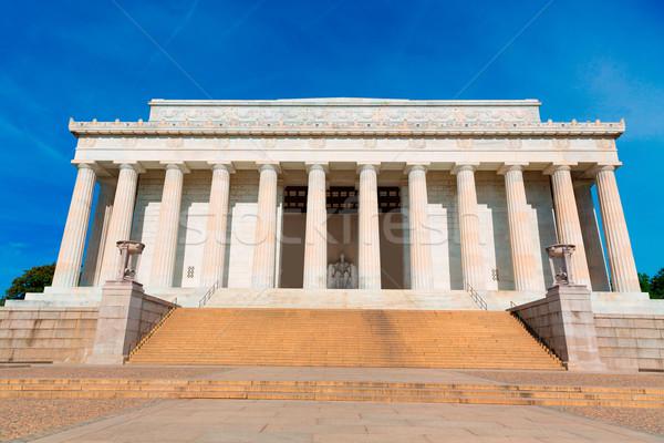 Costruzione Washington DC città blu viaggio statua Foto d'archivio © lunamarina