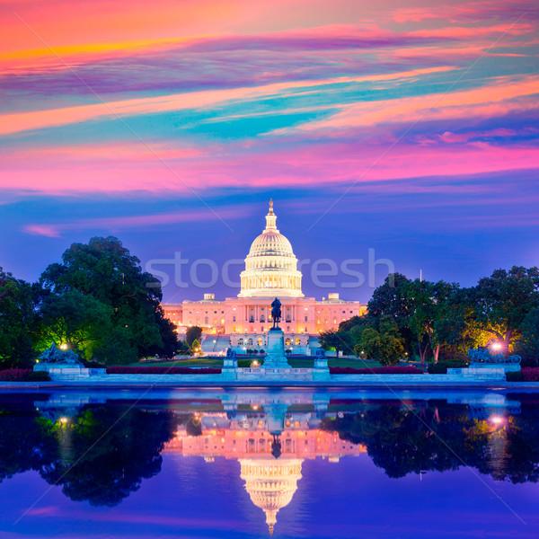 Budynku wygaśnięcia Washington DC kongres USA niebo Zdjęcia stock © lunamarina