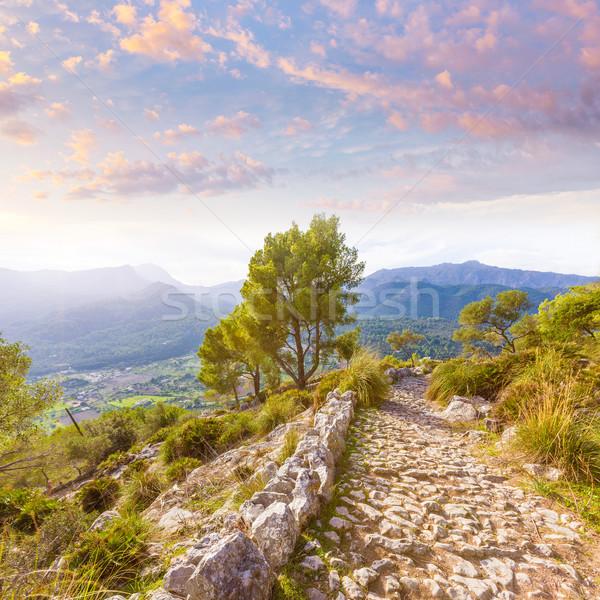 Majorca Puig de Maria Pollenca Pollensa in Mallorca Stock photo © lunamarina