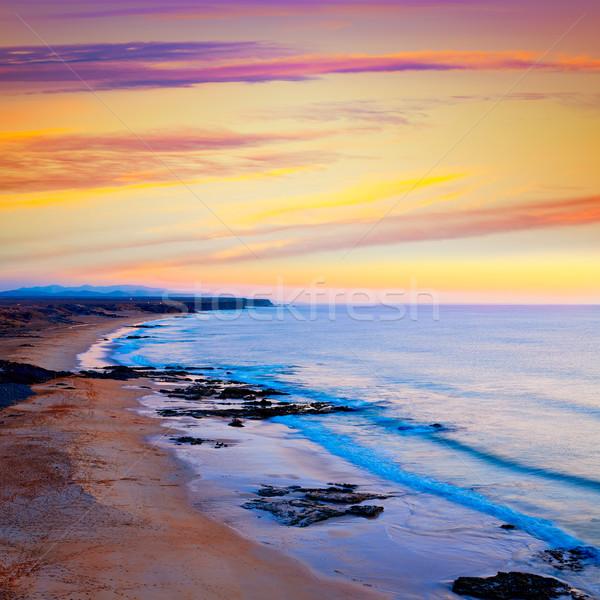 пляж закат канарейка острове Канарские острова Испания Сток-фото © lunamarina